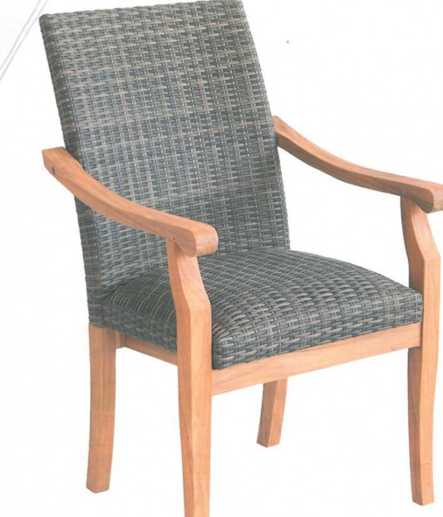 Piece wooden dining set which consists of wicker