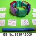 """""""Design a Bracelet""""; es handelt sich um Zusammenstellungen zum Herstellen von Armbändern für Kinder, bestehend aus einem Armband aus Kunststoff, 10 """"Papierplättchen"""" (Länge..."""