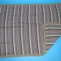Decke, Kat. 7973, siehe Foto, - aus 2,7 mm dicken, buntgestrickten Gestricken aus lt. Antrag 100% Acryl    (synthetische Chemiefasern), - rechteckig, in den Abmessungen 190 cm x 134 cm, - mit...