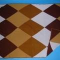 Decke, Kat. 7964, siehe Foto, - doppellagig gearbeitet, insgesamt aus 4,0 mm dicken, buntgestrickten Gestricken    aus lt. Antrag 100% Acryl (synthetische Chemiefasern), - rechteckig, in den...
