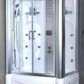 Massageapparat, kein elektrisches Vibrationsmassagegerät, in Form einer zusammengesetzten Ware, sog. Massage-Dusche (Model H 67), im Wesentlichen bestehend aus einer Wanne aus Acryl, einer Duschkabine...