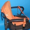 """Andere konfektionierte Spinnstoffware aus Geweben, sog. """"Sack'n Seat - Kindersitz im Taschenformat"""", siehe Foto, - doppellagig gearbeitet, aus 0,3 mm dicken, einfarbigen Geweben..."""