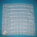 Ware zur Innenausstattung (Mitteldecke), sog. Dekorative Tischdecke Dessin No. 6, siehe Foto, - aus bis zu 0,7 mm dicken, buntgewebten Geweben (Karomuster) aus lt. Antrag    100 % Polyester (synthetische...