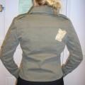 tissu; avec poche; avec ourlet; à la base; de coton; veste; avec…