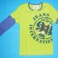 """Modisches Unterhemd, sog. Shirt """"Jeans"""", Art. 593-028, Gr. 176/182, s. Abb.; - aus 1 mm dicken (somit leichten), einfarbigen bzw. bedruckten Gewirken aus lt. Antrag   100% Baumwolle;..."""