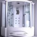 Massageapparat, kein elektrisches Vibrationsmassagegerät, in Form einer zusammengesetzten Ware, sog. Massage-Dusche (Model LS 208), im Wesentlichen bestehend aus einer Wanne aus Acryl, in die...