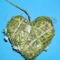 """Andere konfektionierte Ware aus Spinnstoffen, sog. Herz zum Aufhängen, Artikel T80150 Herz """"Wiese"""", siehe beigefügtes Foto, - in Herzform gearbeitet, - in den Abmessungen: ca. 10..."""