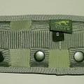 Andere konfektionierte Spinnstoffware, sog. Adapter für Pistolenholster  Art. 7773.036, siehe Fotos, - in den Abmessungen ca. 16 x 8,5 cm, etwa 7 mm dick; aus Geweben aus lt. Antrag 100%   synthetischen...