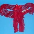 Slipähnliches Kleidungsstück für Frauen, sog. offener Damenslip, Hersteller-Artikelnummer 2645, Größe S, siehe beigefügtes Foto, - aus bis zu 0,7 mm dicken, einfarbigen, dichten und durchbrochenen...