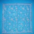 Tischwäsche (Mitteldecke), sog. Oster-/Frühlings-Mitteldecke, Artikel 3A, siehe Foto, - aus 0,1 mm dicken, transparenten Geweben aus lt. Antrag 100 % Polyamid    (synthetische Chemiefasern), -...
