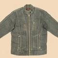 Jacke für Männer, sog. Jeansjacke (Order 2734649-51), Größe M, siehe Foto, - aus 0,8 mm dicken, buntgewebten Geweben aus lt. Antrag 100% Baumwolle, - über die Taille reichend (Rückenlänge:...