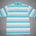 Hemd für Männer, sog. T-Shirt (Art. 6508), Größe M, siehe Foto, - aus 0,7 mm dicken, buntgewirkten (Streifenmuster) Gewirken aus lt. Antrag 100%   Baumwolle,  - mit durchschnittlich 18 Maschen...