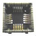 Sockel für Kameramodule (Abbildung siehe Anlage), - in Form eines quadratischen Sockels (Abmessungen 12 x 12 x 4,5 mm) in   SMD-Bauweise mit 20 innenliegenden, elektrisch leitenden Federkontakten...