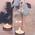 Nichtelektrischer Beleuchtungskörper aus unedlem Metall, anderweit weder genannt noch inbegriffen, nicht handgearbeitet, sog. Teelichthalter Engel antik, Art. 60831, bestehend aus einer runden,...