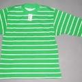 Modisches Unterhemd, sog.  Ringel Langarmshirt, Art. 591-008, Größe 128/134, siehe Foto - aus 1,0 mm dicken, damit leichten, bedruckten (Ringelmuster) Gewirken aus    lt. Antrag 100 % Baumwolle,...