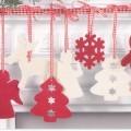 Warenzusammenstellung in Aufmachung für den Einzelverkauf, sog. Weihnachtsfilzanhänger, PJN 34127, bestehend aus -Weihnachtsfestartikeln, aus anderen Stoffen als Glas, in Form von zwei Tannenbäumen...