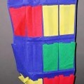 Andere konfektionierte Spinnstoffware, sog. Hängeorganisierer Colorado mit 12 Fächern, Art. 43840001000, siehe Foto - aus verschiedenen, einfarbigen, 0,5 mm bis 0,7 mm dicken Vliesstoffen aus...