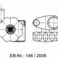 """""""Gleitschieber""""; bestehend aus einem in etwa ovalen Schieberkörper mit """"Nase"""" und Bohrung zur Durchführung einer Brausestange (nicht Gegenstand der vZTA) aus verchromtem..."""
