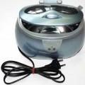 Ultraschallreinigungsgerät zur Verwendung im Haushalt - bestehend aus einem Kunststoffgehäuse mit Klappdeckel, integriertem Wasserbehälter,    Bedienschalter und Netzkabel mit Stecker (Abbildung...