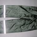 Lange Hose aus Geweben der Pos 5903, sog. Regenbundhose, Größe M siehe Foto, - aus 0,2 mm dicken, einfarbigen, einseitig (Innenseite) mit einer geprägten Kunststofffolie    (lt. Antrag: PVC...