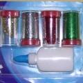 warenzusammenstellung; polyester; aus kunststoff; farbig; klebstoff