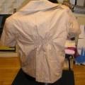 avec ourlet; à la base; de tissu; de coton; imprimé; veste; avec…