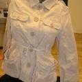 à la taille; de tissu; de coton; veste; avec manches longues;…