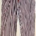 pantalon; à la taille; avec ourlet; de tissu; de coton; sans…