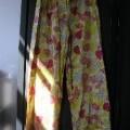 pantalon; tissu; coton; élastique; à la taille; avec ourlet;…