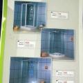 ducha; de plástico; cabina