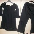 pantalon; coton; à la taille; avec ourlet; à la base; avec élastique;…
