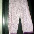 pantalon; tissu; coton; élastique; à la taille; à la base; jambe;…