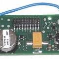 Funk-Fernsteuerung - aus einer mit Funksendemodul, Prozessor, Stromversorgung (noch ohne Stromquelle),    Timer und weiteren aktiven und passiven Bauelementen bestückten gedruckten Schaltung,...