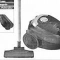 Bodenstaubsauger - aus einem Kunststoffgehäuse mit Tragegriff und zwei gummierten Laufrollen, eingebautem    Elektromotor, Filtersystem, automatischer Kabelaufwicklung mit Netzkabel inklusive ...