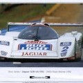 1991 JAGUAR XJR14 RACING CAR. CHASSIS NO. 791.  RACED AT FIA WORLD SPORTS CAR CHAMPIONSHIPS COMING FIRST AT NURBURGRING IN 1991 DRIVEN BY DAVID BRABHAM AND DEREK WARWICK. CAME FIRST IN ATLANTA...