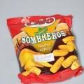 Sombreros nacho, sajtos ízesítésű ropogtatnivaló. A minta eredeti kiszerelésű, a kiskereskedelmi forgalom számára kiszerelt piros színű színes nyomású PP tasakban érkezett vizsgálatra,...