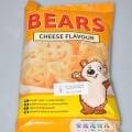 Tesco bears cheese flavour ízesített ropogtatnivaló. A minta eredeti kiszerelésű, a kiskereskedelmi forgalom számára kiszerelt narancs színű színes nyomású PP tasakban érkezett vizsgálatra,...