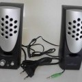 Aktiv-Lautsprecherset - aus einem Lautsprecher, Tonfrequenzverstärker und Stromversorgung in einem Gehäuse   mit Bedienelementen, Kopfhöreranschlussbuchse und Anschlusskabel mit Klinkenstecker ...
