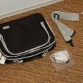 van textielstof; handtassen; met ritssluiting; tassen; voor computers