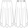 woven; for women; skirts; of viscose