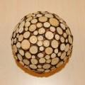 van kunststof; van hout; voor versiering; gelijmd; ballen