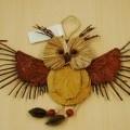 van hout; voor versiering; bladeren