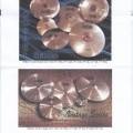van koper; in ronde vorm; met geluid; delen van muziekinstrumenten