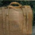 aus leder; mit reissverschluss; reisetasche