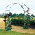 STEEL ROSE ARCH DESIGNED FOR ROSES AND CLIMBING PLANTS TO GROW UP. APPROXIMATE MEASUREMENTS H240CM X D37CM X W140CM. ASSEMBLY REQUIRED INSTRUCTIONS INCLUDED.