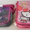 """Ähnliches Behältnis, Umhängetasche """"Hello Kitty"""", Abbildung siehe Anlage,  - mit einer Außenseite aus Spinnstoffen (auf der Vorderseite großflächig bedruckt) auf einer    Unterlage..."""