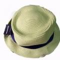 con cinta; de papel; guarnecido interiormente, textiles; sombrero;…
