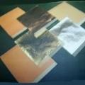 en hojas; aleacion; oro; laminado, metal