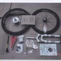 van papier; rijwielen; fietsen; delen van rijwielen; voor fietsers