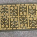 z textilního materiálu; tkané; rohožka; obuv; podlahové krytiny;…